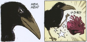 Raven the Trickster Story  by John Active, art by Jason Copland (p. 19-32)